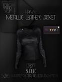 Ec.cloth - Metallic Leather Jacket - Black (unpacked)