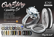 JCNY - 'OUR STORY, Wedding Ring Set