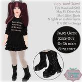 {V*Y} Baby Goth Outfit (big kid)