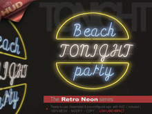 The Retro Neon - BEACH PARTY TONIGHT