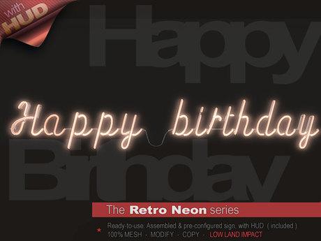 The Retro Neon - HAPPY BIRTHDAY