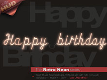 The Retro Neon - HAPPY BIRTHDAY
