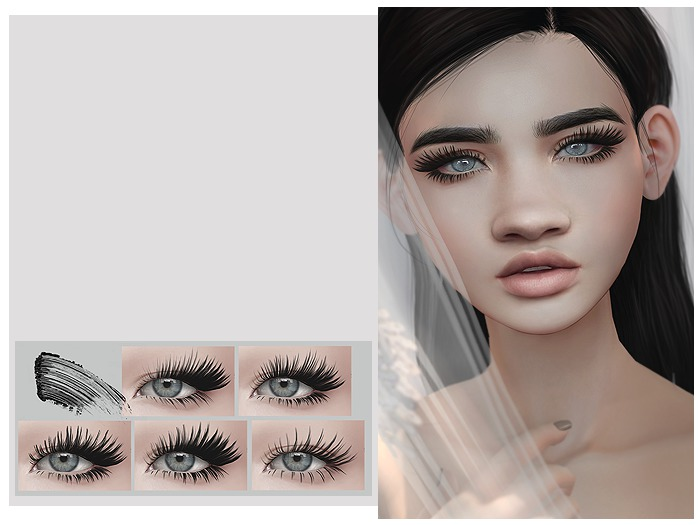 [okkbye] Dramatic Falsies - CATWA Lashes / Appliers