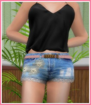 Second Life Marketplace Jeans Shorts Damen Hotpants
