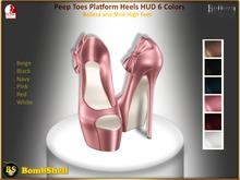 *BS* Peep Toes Platform Heels 6 Colors - For Belleza and Slink High Feet