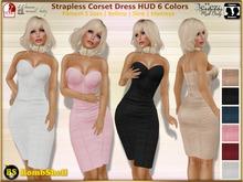 *BS* Strapless Corset Dress 6 Colors - Fitmesh 5 Sizes Belleza Maitreya Slink