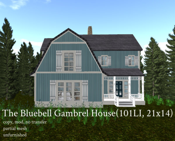 The Bluebell Gambrel House(101LI, 21x14)