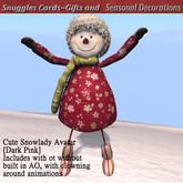 Cute Snowlady Christmas  Avatar [dark pink ]