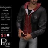 PierreStyles :  Leather Jacket with Hoodie mesh  multi