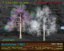 Illuminated Tree in 7 Color Patterns - Christmas and Winter Tree w/ Smooth Motion Effect