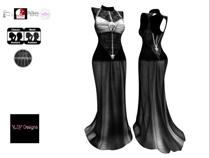 *{LD}* Selena Gown - Goth Black