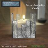 SR Steps Glass Votive Candle GROUP GIFT Decor