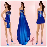 Tango Blue Gown[Variety Of Wear] Set