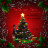 Gor-jus Christmas Tree with Animations - Yellow Star