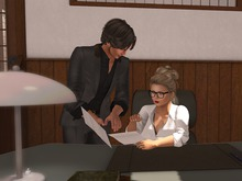 Dutchie mid century desk PG: 20 couple animations for female and male boss rp,10 sequences,10 props,AVsitter experience