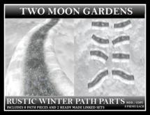 RUSTIC ROAD - WINTER PATH PARTS. Low Prim