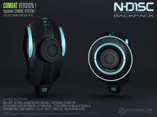 (25% OFF) N-DISC Backpack Combat System (Black) [NeurolaB Inc.] Cyber Cyberpunk Sci-fi Weapons
