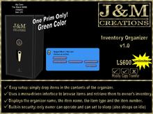 J&M Creations Inventory Organizer v1.0
