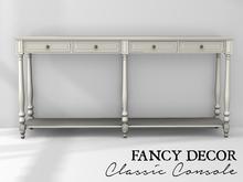 Fancy Decor: Classic Console (white)