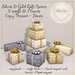 {what next} Gold & Silver Gift Boxes  Decor - COPY (boxed)
