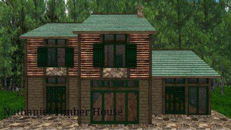 Nathaniel Timber House (94LI,27x21)