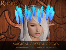 .: Runic :. Magical Crystal Crown (Blue)