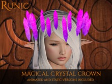 .: Runic :. Magical Crystal Crown (Pink/Purple)