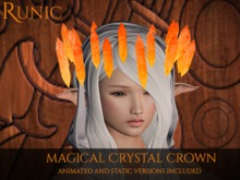 .: Runic :. Magical Crystal Crown (Red/Orange)