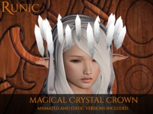 .: Runic :. Magical Crystal Crown (White/Grey)
