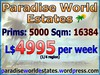 Paradise World Estates - L$ 4995 - 5000 prims - Land Store - Land for Sale - Land Rentals