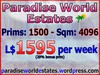 Paradise World Estates - L$ 1595 - 1500 prims - Land For Sale - Land Rentals - Land Store