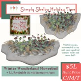 Winter Wonderland flowerbed - curve