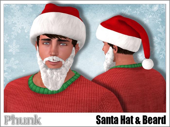 [Phunk] Santa Hat & Beard