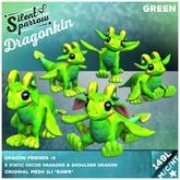 ~silentsparrow~ Dragonkin - Green Mesh Dragon Friends