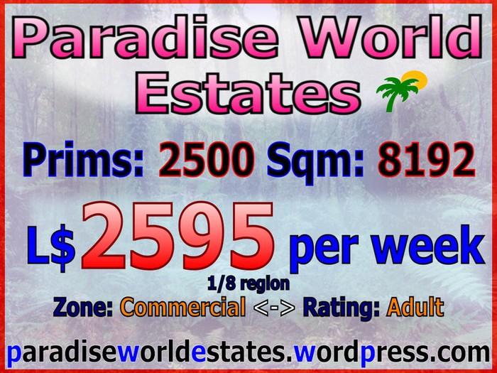 Paradise World Estates - Commercial Adult Land - Mania