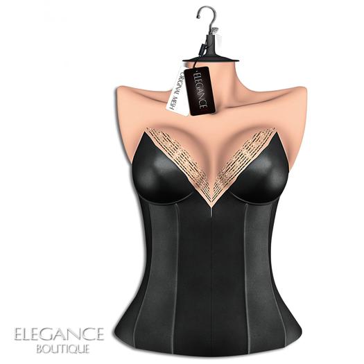 "Elegance Boutique -Corset ""Moon"" - Black - Maitreya"