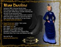 Miss Caroline in Peacock Blue