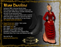 Miss Caroline in Red