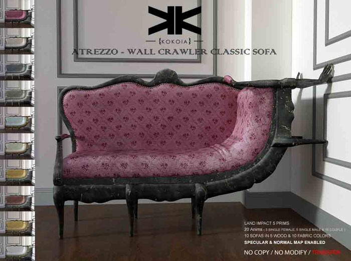 Atrezzo :: Wall crawler classic sofa :: {kokoia}