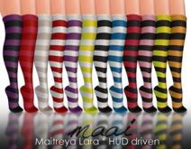 MAAI Fancy stockings * stripes * HUD * Maitreya Lara