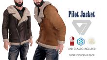 ILLI - [MeshProject,Physique,Signature Gianni,Classic] Pilot Jacket (HUD Driven) - PROMO
