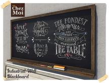 Wall Blackboard Industrial Kitchen ♥ CHEZ MOI