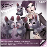 ~silentsparrow~ Puppers! Grey Mesh Puppy Dog Friends