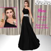 Elena Black-White Gown - Fasion Dream