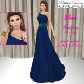 Elena Blue-Teal Gown - Fasion Dream