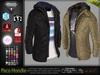 Paco Male Mens Hooded Leather Jacket Coat - Mesh - TMP, Adam, Slink, Aesthetic, Signature - FashionNatic