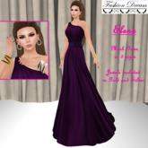 Elena Violet-Purple Gown - Fasion Dream
