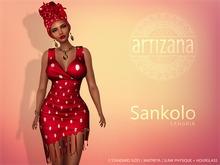 Artizana - Sankolo (Sangria) - Mesh Dress + Headwrap