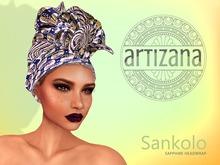 Artizana - Sankolo (Sapphire) - African Headwrap