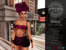 Artizana - Marcia Collection - Tube Top + Shorts + Headwrap